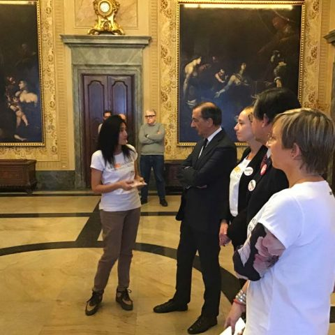 Giusy-Lagana-spiega-progetto-a-Sindaco-Beppe-Sala-BillisNO